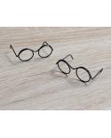 2 paires de lunettes miniatures en métal