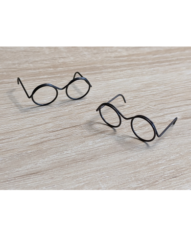 2 pairs of miniature metal glasses