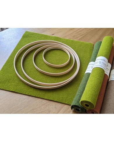 Cercle décoratif en bambou x 4
