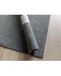 Coupon de feutre de laine bleu chiné 30 x 30 cm