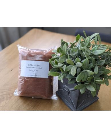 Sachet de 50g de laine cardée caramel