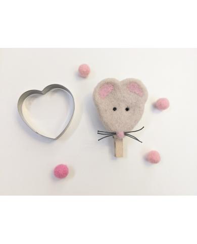 Rond hart koekjes uitsteker (muis)