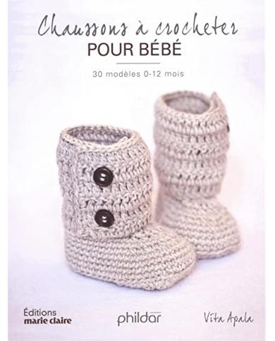 Chaussons à crocheter pour bébé - Phildar