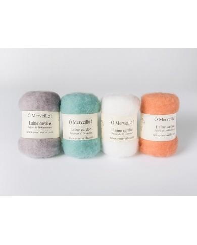 Vintage gekaarde wol