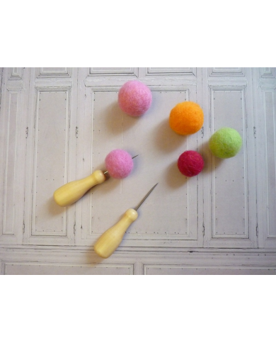 Hallmark for felted beads