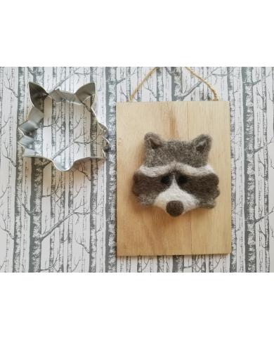 Emporte pièce tête raton laveur - renard