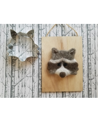 Raccoon - fox head cookie cutter
