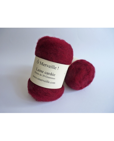 Burgundy carded wool