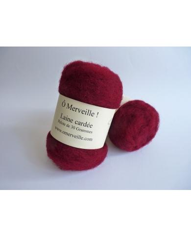 Burgundy carded wool