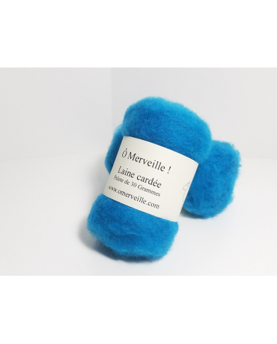 Duck blue carded wool