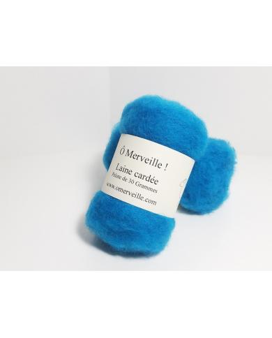 Eend blauw gekaarde wol