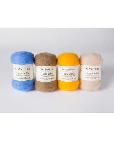 Trendy carded wool