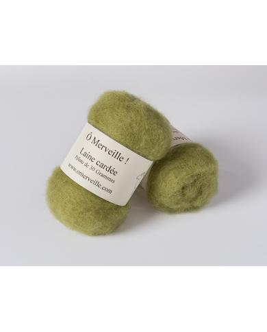Khaki carded wool