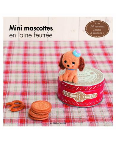 Mini felted wool mascots