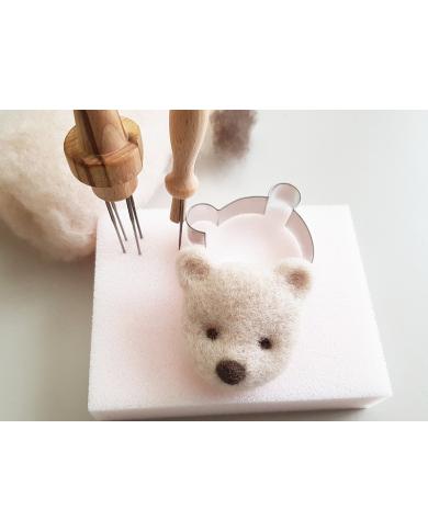Emporte pièce petite tête d'ours