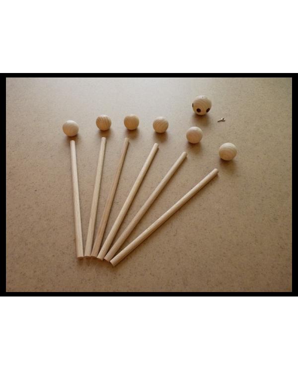 Support mobile en bois brut vendu en kit de 13 pièces à monter