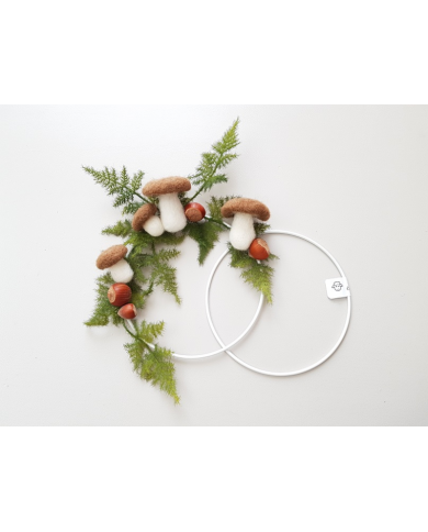 Cercle en métal peint blanc 15 cm de diamètre