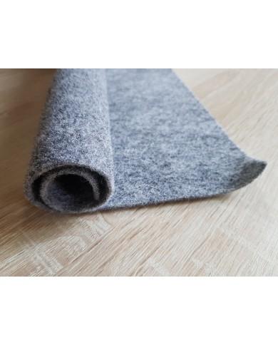 Coupon de feutre de laine gris chiné 30 x 30 cm