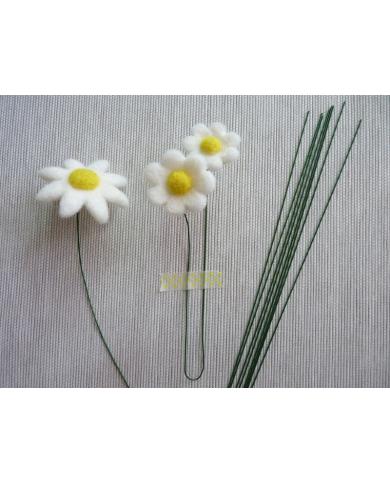 20 dunne metalen bloemstengels