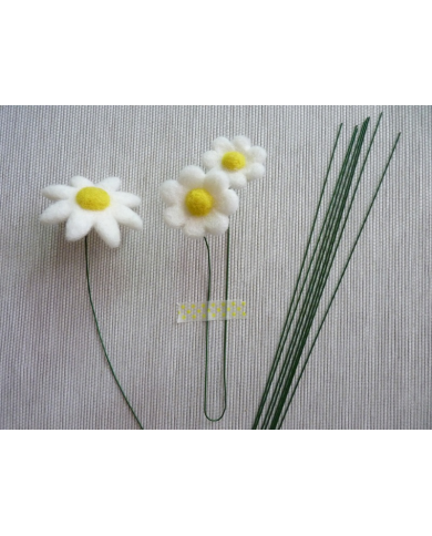 20 thin metal flower stems