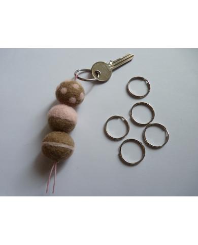 5 anneaux porte-clés