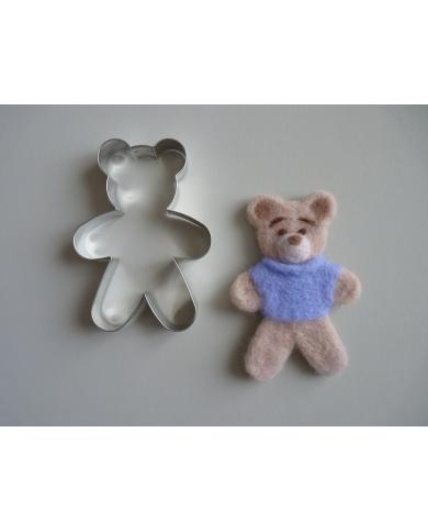 Grote beer staande koekjessnijder