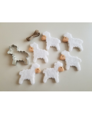 Big sheep cookie cutter