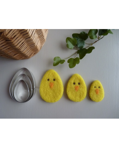3 egg or 3 leaf cookie cutters