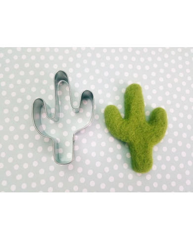 Large cactus cookie cutter