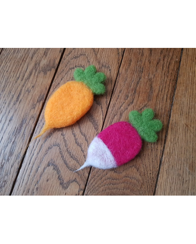 Carrot - radish cookie cutter