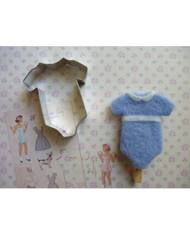 Big baby bodysuit cookie cutter