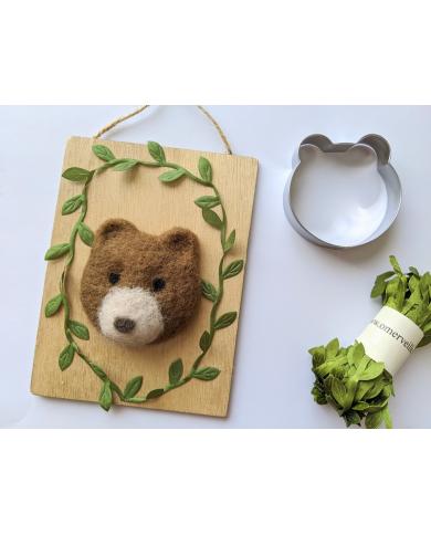 Big bear head cookie cutter