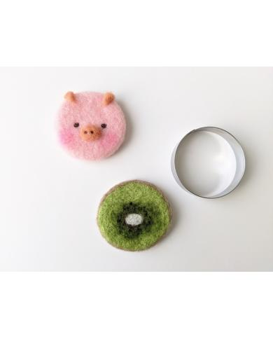 Emporte pièce cercle ou boule de Noël 6,2 cm