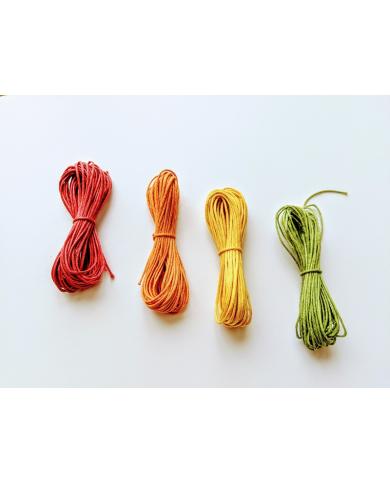 Orange waxed cotton