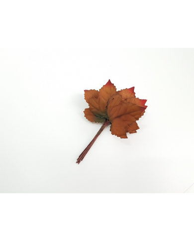 12 decorative fall leaves, model 3