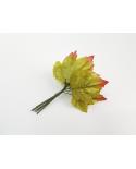 12 green decorative leaves model 4