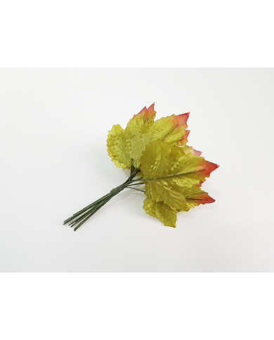 12 green decorative leaves model 4