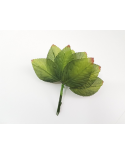 12 green decorative leaves model 5
