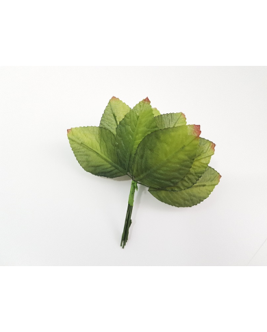 12 green decorative leaves...