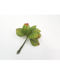 12 feuilles décoratives vertes modèle 6