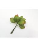 12 green decorative leaves model 6