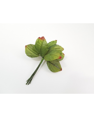 12 green decorative leaves model 6
