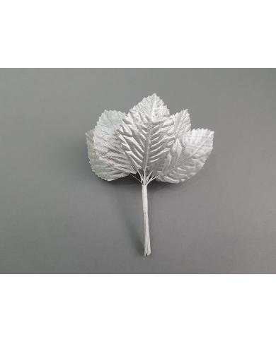 12 feuilles décoratives coloris argent