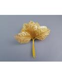 12 feuilles décoratives coloris or