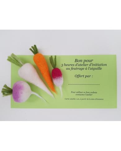 Carte cadeau Atelier d'initiation au feutrage Ô Merveille !