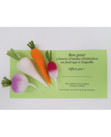 Gift card Introductory felting workshop Ô Merveille!