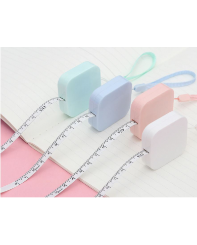 Pink sewing tape measure