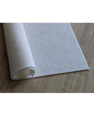 Feutrine pure laine blanc coupon 20 X 30 cm